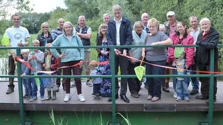 Manea pit,Pond dipping area officially opened by Mark Hall who helped design it.Picture: Steve Willi