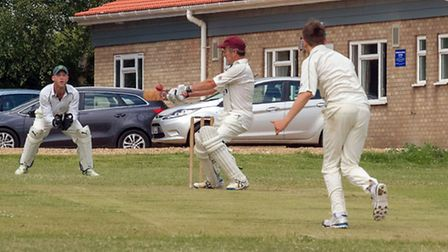 Witcham's Nigel Pate plays a shot. Picture: BARRY GIDDINGS