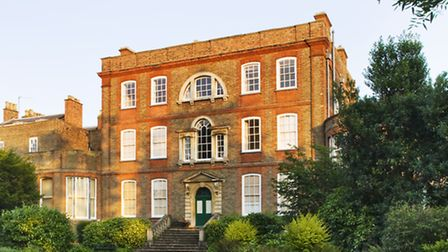 The back of the house at Peckover House and Garden, Wisbech, Cambridgeshire, in July. *** Local Capt