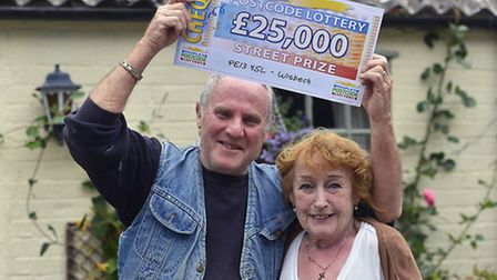 Janet and David Hurst celebrate their lottery win. Picture: Philip Reeson.