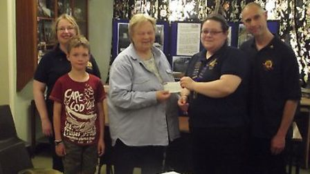 A cheque for 135 was handed over the Little Downham village hall restoration fund.