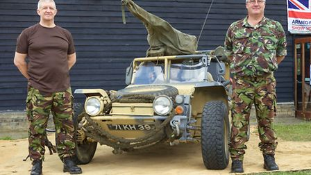 Kevin and Allen from The East of England Military Museum. Picture: BARRY GIDDINGS