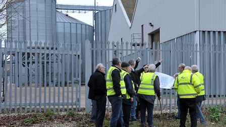 The planning committee's site visit in January. Picture: Steve Williams.