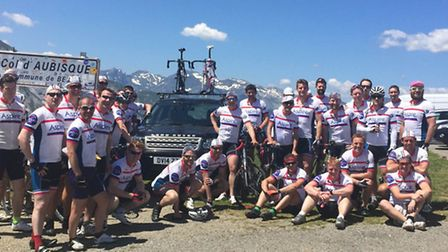 The Ride2Recovery team in the Pyrenees