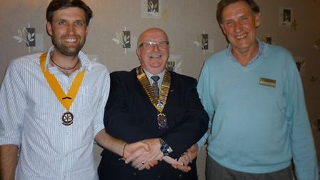 David Denson is the new President of the Rotary Club of Whittlesey. Vice-president Joseph Cornell on