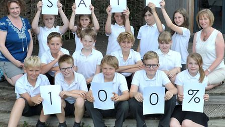 little thetford primary school ELY. 100% sats results Picture: Steve Williams.