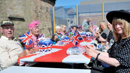 Young people march, WW2 fancy dress street party, Picture: Steve Williams.
