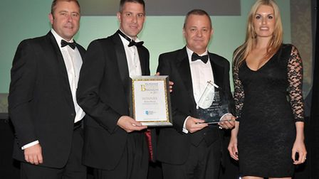Ely Standard Business Awards 2013. New Business of the Year, Poets House. presented by Quotient Bioa