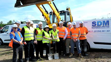 New development turf cutting at Victoria cafe site, Lynn Rd, Wisbech. Left: Picture:Steve Williams,