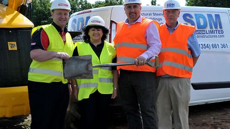New development turf cutting at Victoria cafe site, Lynn Rd, Wisbech. Left: Gary and Susan Robinson