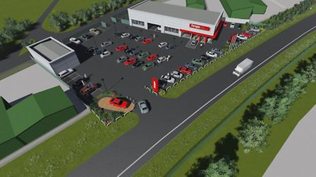 Paragon aerial shot of how the new sales room will look