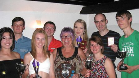 Ely Vikings celebrate at their annual awards.
