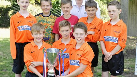 Year 5/6 boys at Rackham CE Primary School, Witchford, have won the Ely/Witchford District Football