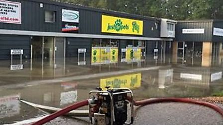 Fire crews tackled flooding incidents in Cambridgeshire overnight. Picture: CAMBS FIRE AND RESCUE.