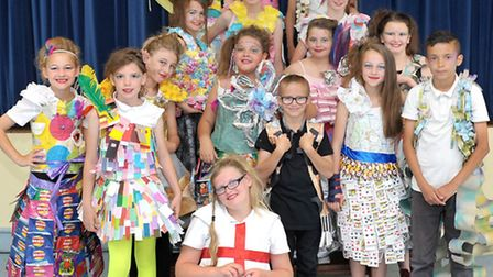 Fashion assembly at Westwood junior school, March. Picture: Steve Williams.