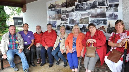 Installation of history plaque/montage. March History Group, March in Bloom & March Street pride ha