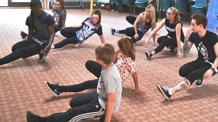 Steady from Flawless leads a dance masterclass as part of Ely Festival
