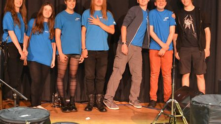The crew who ran band night organised as part of Ely Festival