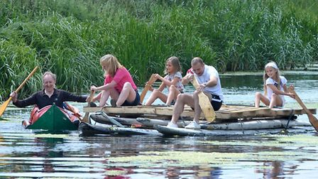 Water Gala with Raft Races at Welney. Picture: Steve Williams.