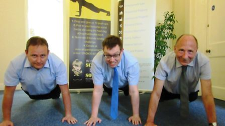 #DropAndGiveMe10 at Ward Gethin Archer in Ely. Adrian Long, John Bailey and Michael Judkins