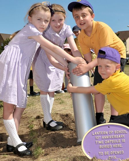 Tree planting to celebrate school's 10th anniversary. Picture: Steve Williams.