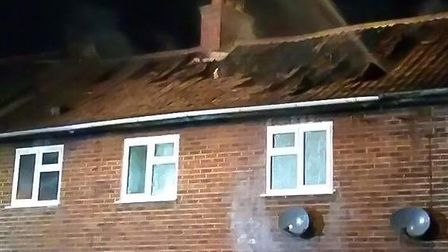 Crews tackle a house fire in Chatteris. Picture: CAMBS POLICE.