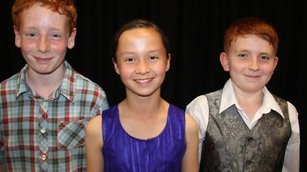 Soham Young Musicians: Chris Atkinson, Lara Foulkes and Daniel Perel-Hubbard. Picture: M.ROUSE.