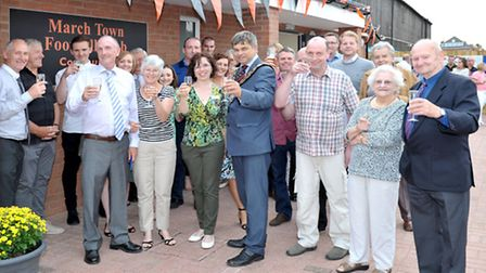 Official opening of March Town Football Club. Picture: Steve Williams.