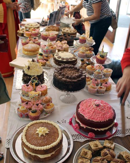 A selection of cakes at last year's event.