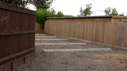 The five concrete kerb stones installed in the drive at 5 Bramley Court