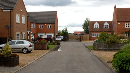 Bramley Court showing the entrance to the shared driveway