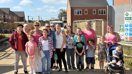 Sanctuary Housing, Tenants for new housing turn up on site in Gaul road. Picture: Steve Williams.