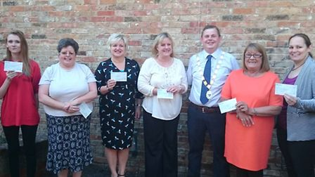Six local charities and organisations were the lucky recipients of extra funds when the Mayor of Cha