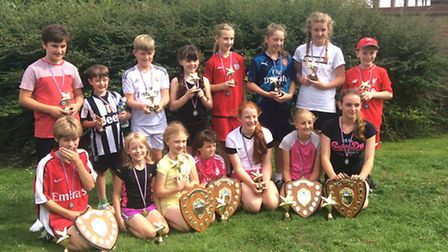 Soham Superstars, at Ross Peers Sports Centre, the age group winners.