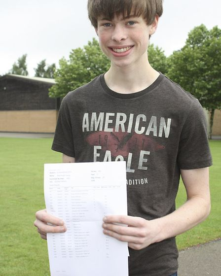 Wisbech Grammar School GCSE results - Elliot Young, who achieved 9A*s.