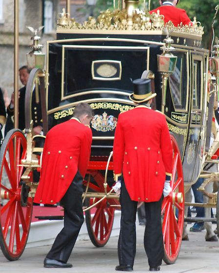 Filming for Netflix drama The Crown at Ely Cathedral. Picture: CLINTON EDWARDS.