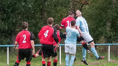 Action from Chatteris Town v Hundon. Picture: CHATTERIS TOWN TWITTER.