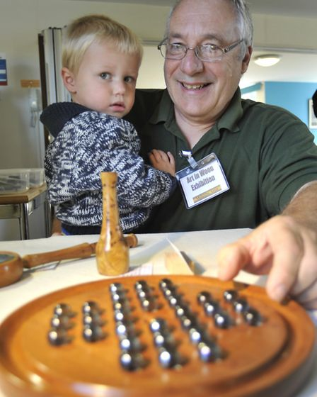 Malcolm Arter, with his grandson Connor Arter, at last year's exhibition.