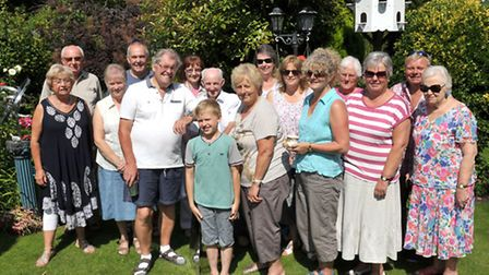 Nene Parade March, open garden at Doreen and Neville Patrick's home. visitors, freinds and relations