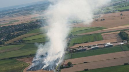 Terry Pearce's picture of the stubble field fire, taken from about 700ft above.