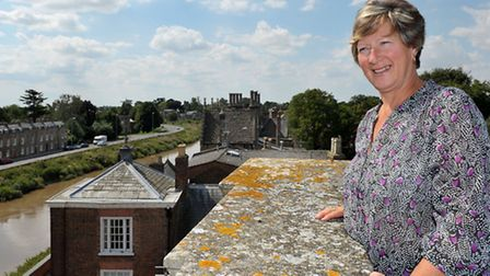 Peckover House, North Brink Wisbech - behind the scenes tour. House Steward Carole French on the roo