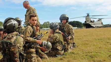 Wisbech, March and Whittlesey army cadets at their annual camp last week.(PHOTO: Mark Knight)