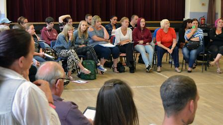 Residents met Sanctuary Housing directors at a public meeting held at March Community Centre.
