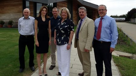 From left to right – Prof Andy Greenland (Director of Genetics and Breeding), Lucy Frazer MP, Dr Phi