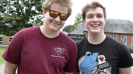 Twin brothers Andy and Chris Turner. Andy achieved 4A* grades and Chris achieved 3 A grades.