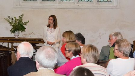 MP Lucy Frazer with residents of Little Wilbraham and Six Mile Bottom.