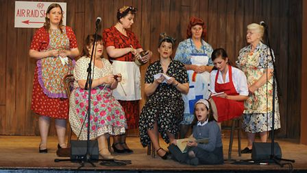 Scenes from dress reheasals of Pack Up Your Troubles, performed by March and District Amateur Operat