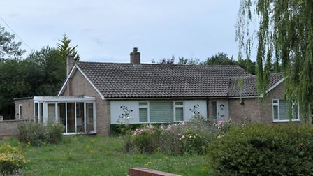 Lode Way, Haddenham, Demolition of this house to make way for two detached houses. Picture: Steve W
