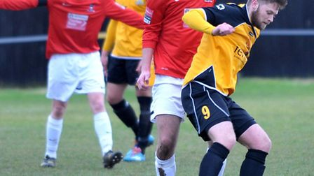 Dan Woods will be looking to bang in the goals for March Town this season. Picture: Steve Williams.