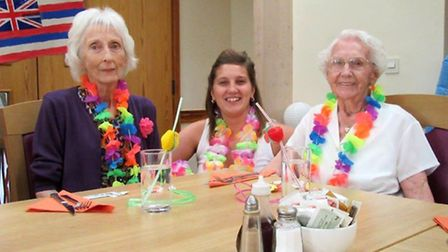 A Hawaiian-themed party was held at Ness Court, Burwell.